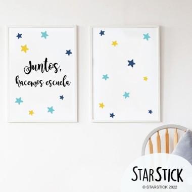 Pack de 2 láminas decorativas - Juntos, hacemos escuela