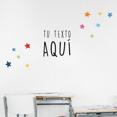¡Crea tu frase! - Vinilos infantiles decoración escuelas
