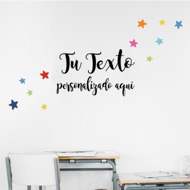 ¡Crea tu frase! - Letra classic - Vinilos infantiles decoración escuelas