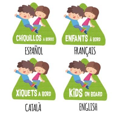 Chiquillos a bordo – Pegatinas infantiles para coche