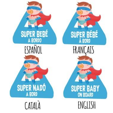 Super bebé a bordo – Pegatinas bebé a bordo para coche