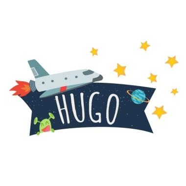 Astronaut - Namen für türen Wandtatoo für kinder