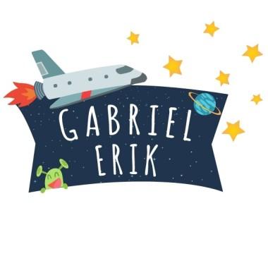 Astronaute - Sticker nom de porte