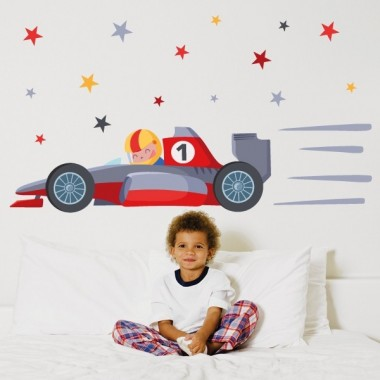 Voiture de Formule 1 - Sticker mural