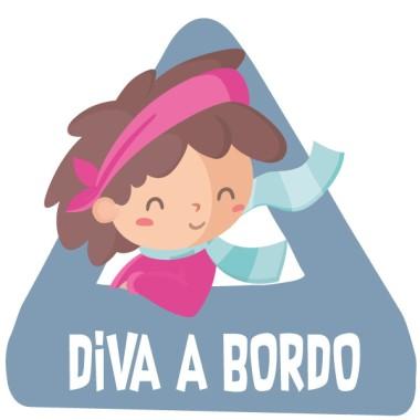 Diva a bordo –  Pegatinas bebé a bordo para coches
