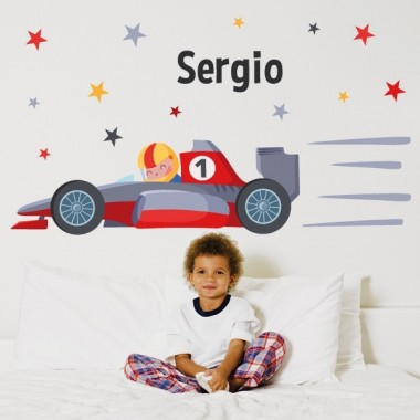 Vinilos para niños Coche Fórmula 1 - Vinilos infantiles