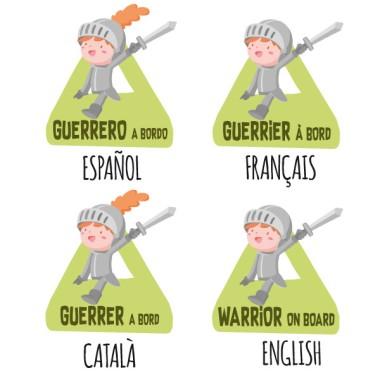 Guerrero a bordo – Pegatinas bebé a bordo para coches