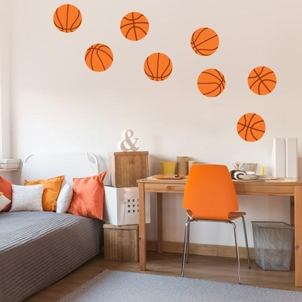 Ballons de basketball- Sticker enfant