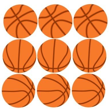 Ballons de basketball- Sticker enfant Collection Stickers enfants - tous- Sticker enfant Ballons debasketball Nous vous rappelons que vous pouvez lepersonnaliser avec le nom de l'enfantà l'aide de lettres de différents styles et couleurs.  Les Tailles 9 ballons:Taille du montage: 135x50 cmBallons de football: 19 cm vinilos infantiles y bebé Starstick