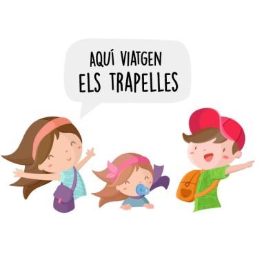 Personalizable - Aquí viajan... – Bebé a bordo Papá, mamá y una niña pequeña
