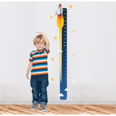 Astronaute - Sticker toise Toises Les Tailles Taille de la feuille: 20x135 cm Taille du montage: 35x135 cm   Comprend 16 étiquettes pour marquer ce que vous voulez! vinilos infantiles y bebé Starstick