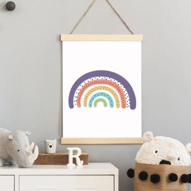 Lámina infantil - Arcoíris morado - Cuadro decorativo