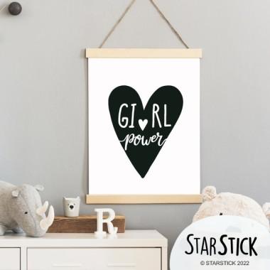 Lámina infantil - Girl Power - Cuadro decorativo