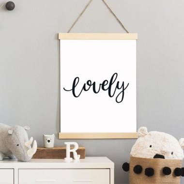 Lámina decorativa - Lovely - Cuadros de diseño