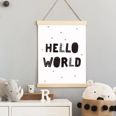 Lámina decorativa - Hello world - Cuadros de diseño