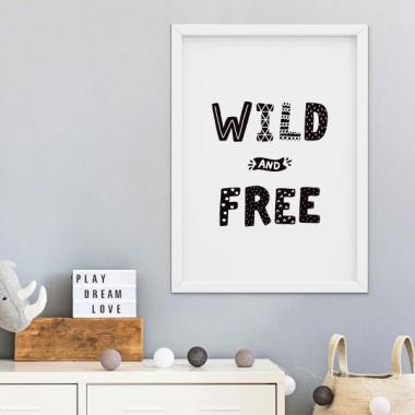 Lámina decorativa - Wild and Free - Cuadros de diseño