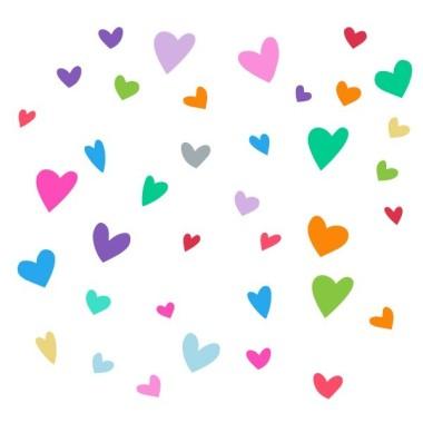 Lluvia de corazones - Vinilo infantil Vinilos infantiles Bebé Vinilo infantil con dulces nubes que provocan una lluvia de corazonesde todos los colores. Medidas aproximadas del vinilo montado (ancho x alto) Pequeño:110x65 cm Mediano:155x90 cm Grande:205x125 cm Gigante:275x190 cm     vinilos infantiles y bebé Starstick
