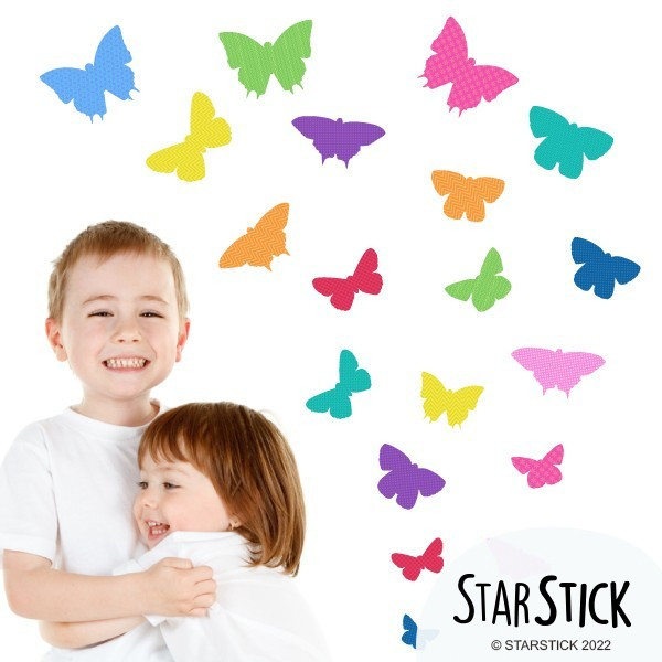 40 Papillons Party - Stickers enfant