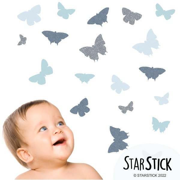 19 Mariposas Azul - Vinilos infantiles