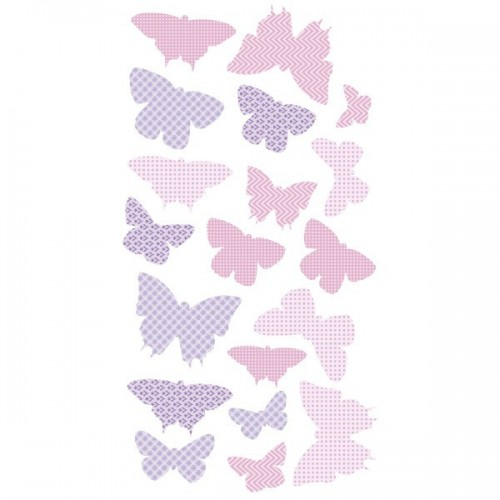 40 Papillons Lilas - Stickers enfant