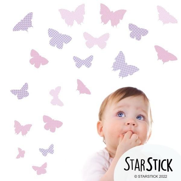 19 Mariposas Lila - Vinilos infantiles