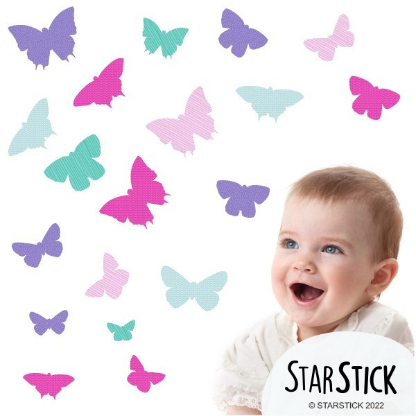 19 Papillons Nena - Stickers enfant
