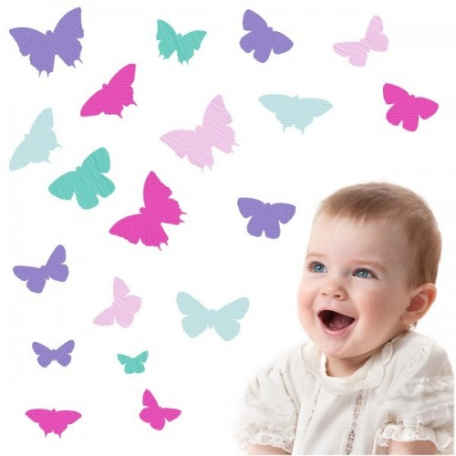 19 Papillons Fille - Stickers enfant