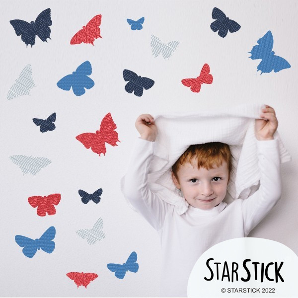 19 Papillons Marin - Stickers enfant