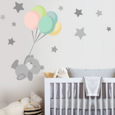 Vinyl-baby Kuschelig teddybär mit luftballons