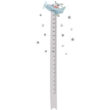 Medidor El perrito Puppy va en avión. Gris - vinilo medidor Medidores Vinilo medidor a juego con el vinilo del El perrito Puppy va enavión.Un vinilodecorativo para habitaciones infantiles.  Medidasdel vinilo Tamaño de la lámina: 25x135 cm Tamaño del montaje: 45x135 cm ¡Incluye 16 etiquetas para marcar lo que quieras! vinilos infantiles y bebé Starstick