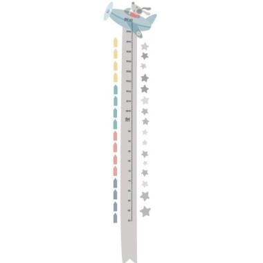 Mesurador El gosset Puppy va amb avió. Gris - Vinils infantils Mesuradors Vinil mesurador per enganxaren parets o superfícies llises. Es pot combinar amb el vinil El gosset Puppy va amb avió.  Midesdel vinil Mida de la làmina: 25x135 cm Mida del muntatge: 45x135cm Inclou 16 etiquetes per marcar el que vulguis! vinilos infantiles y bebé Starstick