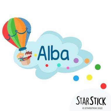 Globus amb confeti - Nom per portes vinil infantil
