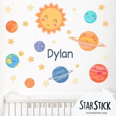Vinilos para niños Vinilo infantil y bebé Planetas infantiles - Vinilos decorativos