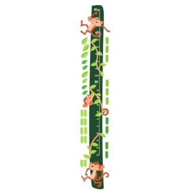 Micos saltadors  - Vinils infantils Mesuradors Vinil mesurador amb divertits micos saltadors. Mesuradors de paret a joc amb els vinils murals. Una genial idea per decorar habitacions infantils.  Midesdel vinil Mida de la làmina: 25x135 cm Mida del muntatge amb les fulles: 35x135 cm Inclou 16 etiquetes per marcar el que vulguis! vinilos infantiles y bebé Starstick