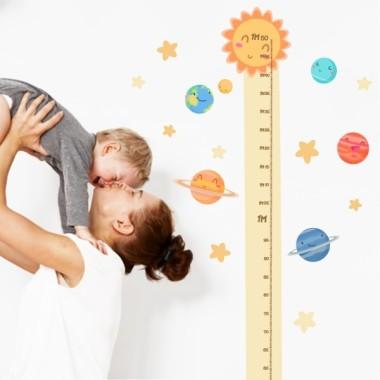 Planetas infantiles - vinilo medidor
