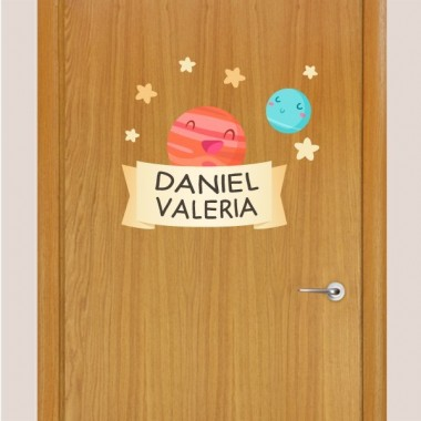 Planetes infantils - Nom per portes vinil infantil