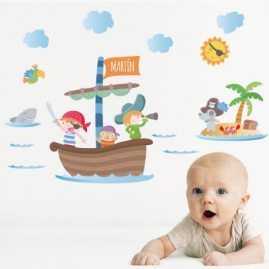Pirates bébé -  Sticker muraux chambre bébé
