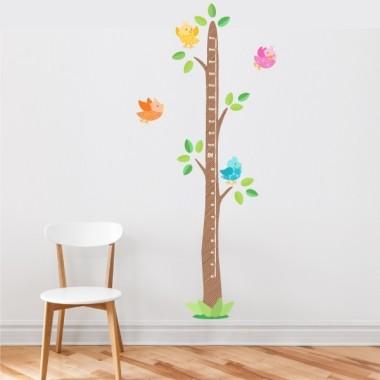 Pajaritos de colores con casita - vinilo medidor Medidores Vinilo infantil de pared con un árbol medidor. ¡Útil vinilo para decorar y medir a los peques!   Medidasdel vinilo Tamaño del montaje con los pajaritos: 45x135 cm Tamaño de la lámina: 30x135 cm Tamaño aproximado de los pajaritos: 10x10 cm ¡Incluye 16 etiquetas para marcar lo que quieras! vinilos infantiles y bebé Starstick