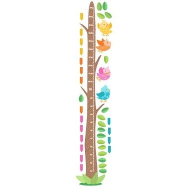 Ocellets de colors amb caseta - Vinil medidor de paret