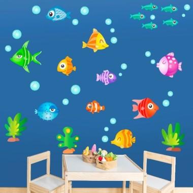 Peces tropicales - Vinilos infantiles