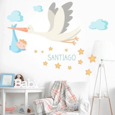 Bienvenue bébé - Sticker muraux chambre bébé