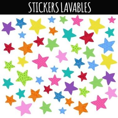 Estrellas de colores Party - Vinilo lavable