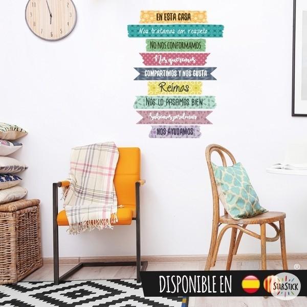 """""""Dans cette maison..."""" - Sticker muraux pour la maison"""