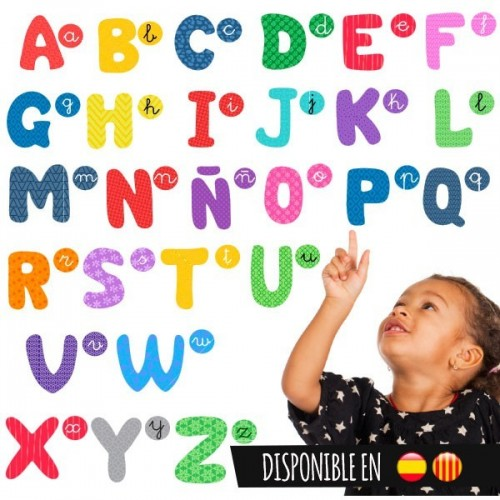 Alphabet coloré - Sticker enfant éducatif