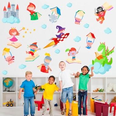 Vinilo bibliotecas escuela Cuentos infantiles - Vinilo infantil