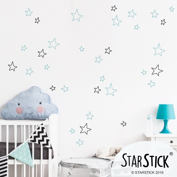 Estrellas Tatto color a elegir - Vinilo decorativo de pared