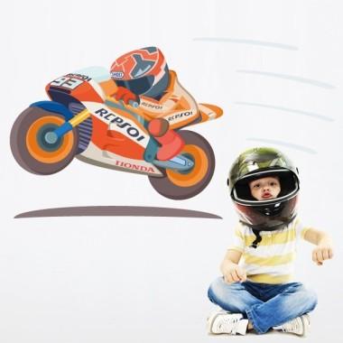 Moto GP - Sticker muraux chambre bébé