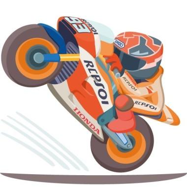 Moto GP - Vinilos infantiles Vinilos infantiles Niño ¡Preparados, listos, ya! Pon en tu pared un vinilo con la moto del ganador y revive la emoción de las carreras. Medidas aproximadas del vinilo montado (ancho x alto) Pequeño: 80x45 cm Mediano: 95x50 cm Grande:141X76cm Gigante:185x100cm Súper Gigante:275x140 cm  AÑADE UN NOMBRE AL VINILO DESDE 9,99€ vinilos infantiles y bebé Starstick
