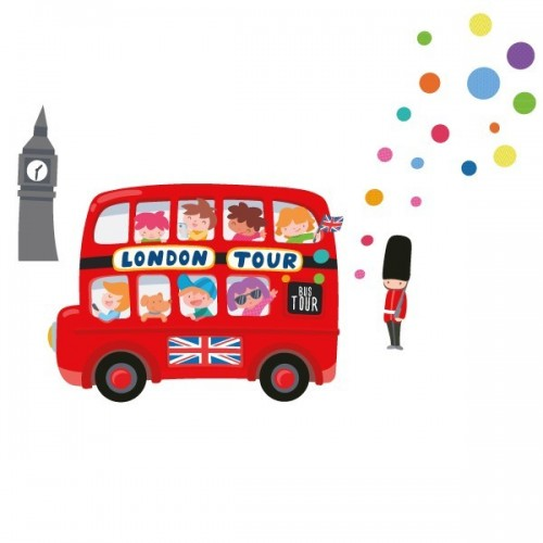 London Bus - Sticker muraux