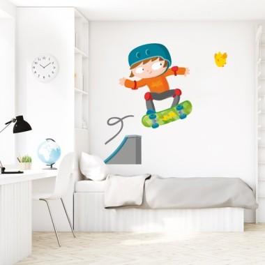 Vinilo para niños Skater - Vinilo decorativo para niños